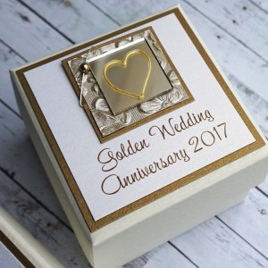 Gold wedding favour box