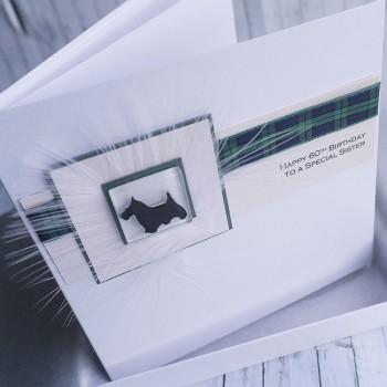 Scottie Dog Handmade Card