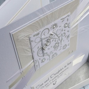 Ivory & Cream First Anniversary Card