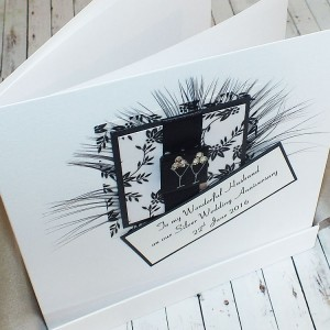 Black & White Anniversary Card