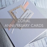 Coral Wedding Anniversary Cards