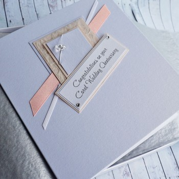Coral Wedding Anniversary Boxed Card
