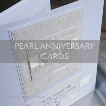 Pearl Wedding Anniversary Cards