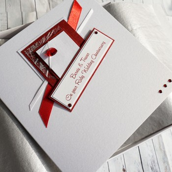 Ruby Heart Wedding Anniversary Card