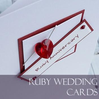 Ruby Wedding Anniversary Cards