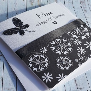 Black & White Butterflies Birthday Card
