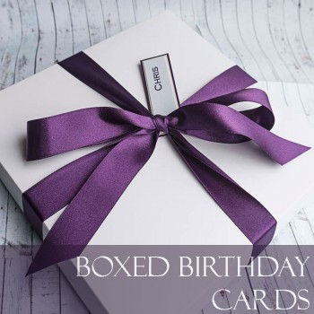 Handmade Birthday Cards Luxury Boxed Birthday Cards Purple