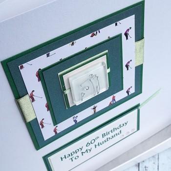 Golf Birthday Card in green