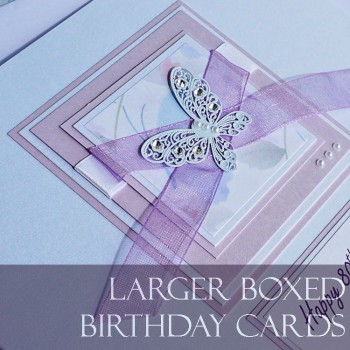 Handmade Birthday Cards Large posh birthday Cards Purple