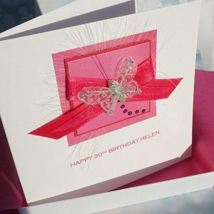 Pink Ribbons Birthday Card