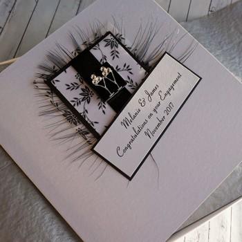 Black & White Engagement Card