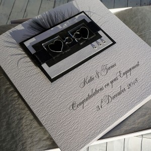 Jigsaw Hearts Boxed Engagement Card