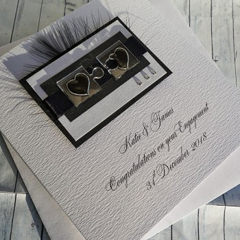 Jigsaw Hearts Engagement Card