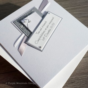 Silver Crystal Engagement Card