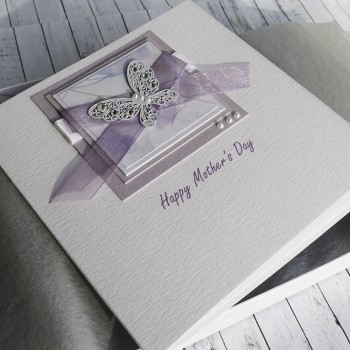 "Boxed Mother's Day Card ""Lilac Butterflies"""