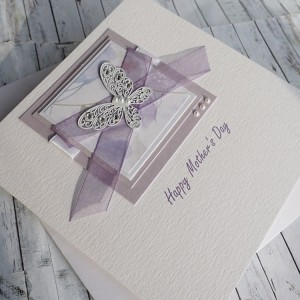 "Handmade Mother's Day Card ""Lilac Butterflies"""