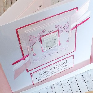 New Baby Girl Card Rocking Horse