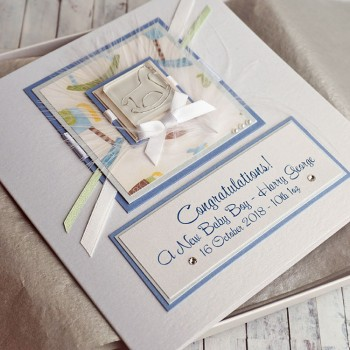 Rocking Horse New Baby Boy Card