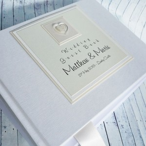 Atholl Wedding Guest Book - linen finish