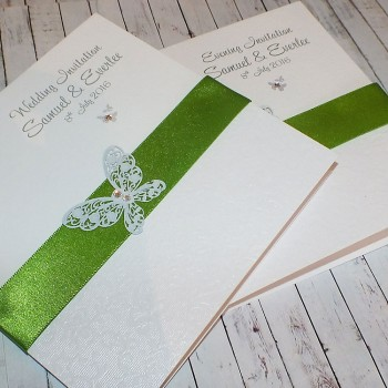 HARRIS Classic Handmade Wedding Invitations - green