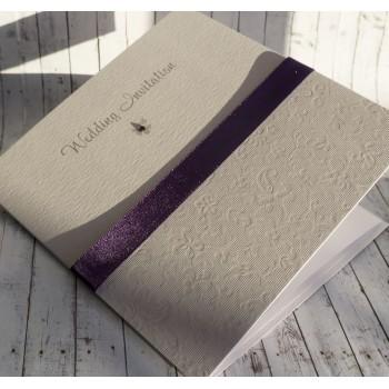 HARRIS Classic Handmade Wedding Invitations - purple