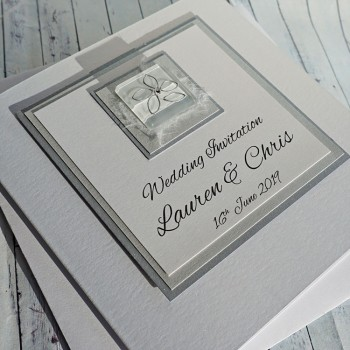 Keen Classic Handmade Wedding Invitation