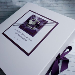 Birthday Keepsake Box Purple Butterfly
