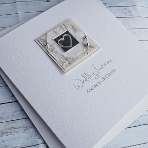 Liath Classic Handmade Wedding Invites - Ivory