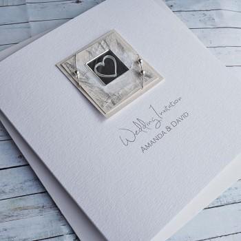 Liath Classic Handmade Wedding Invites - Ivory