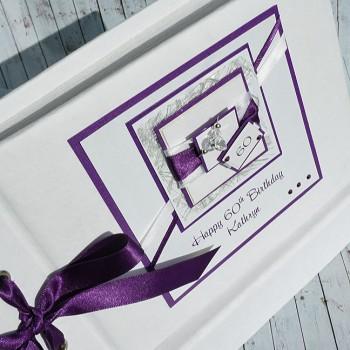 "Birthday Photo Album ""Purple"""
