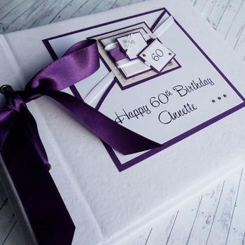 Purple 50th Birthday Photo Album