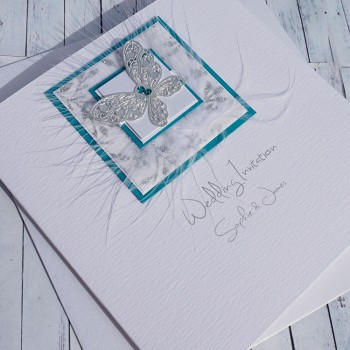 Santorini Classic Handmade Wedding Invitation