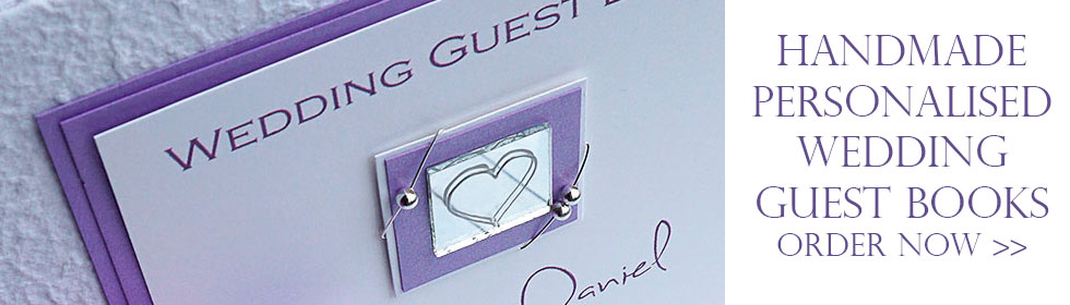 Handmade Wedding Guest Books
