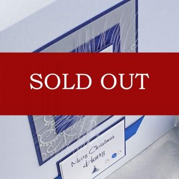 "Luxury Boxed Christmas Card ""Blue Murano Star"""