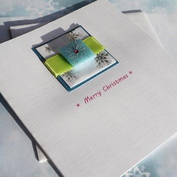 """Handmade Christmas Card """"Colourful Xmas"""""""