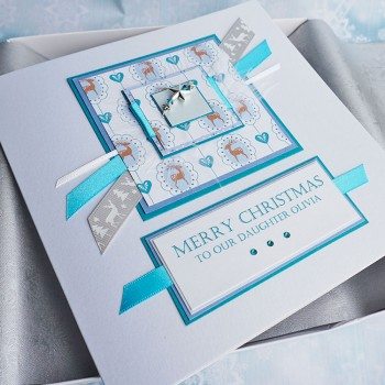"Luxury Boxed Christmas Card ""Frosty"""