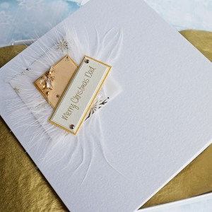 "Luxury Boxed Christmas Card ""Gold Star"""