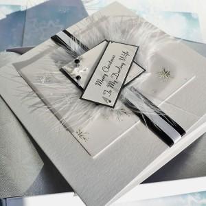 "Luxury Boxed Christmas Card ""Black & White"""