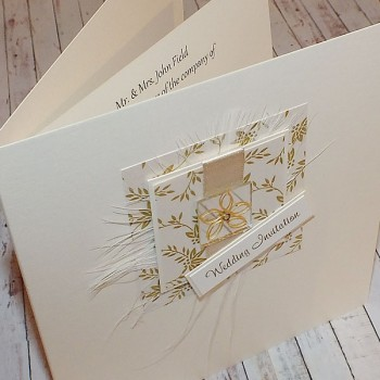 Eden Wedding Invite - Cream