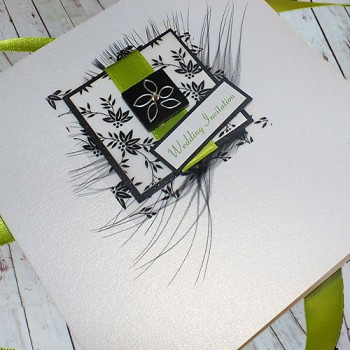 Eden Wedding Invite - Lime Green