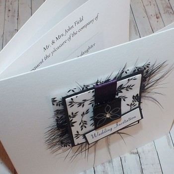 Eden Wedding Invite - Purple
