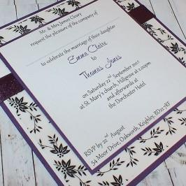 Eden Handmade Flat Wedding Invitation