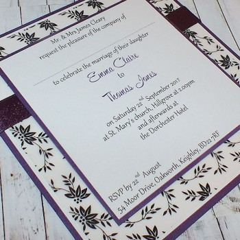 Eden Handmade Flat Wedding Invitation