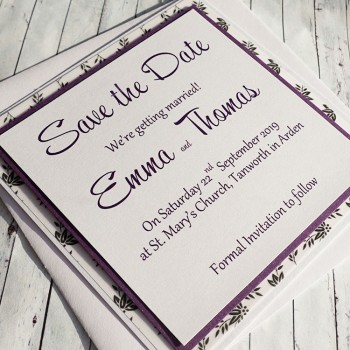 Eden Handmade Save the Date Cards