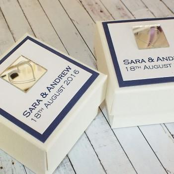 Leven wedding favour box
