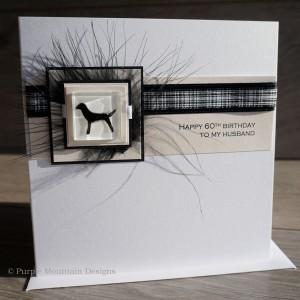 Black Labrador Birthday Card
