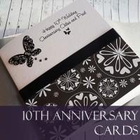 10th Wedding Anniversary Cards