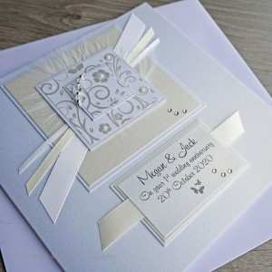 Ivory & Cream Wedding Anniversary Card
