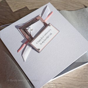 1st Wedding Anniversary Card Pink Champagne