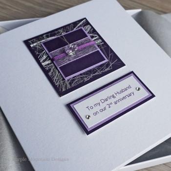 Purple Sparkle 2nd Anniversary Card